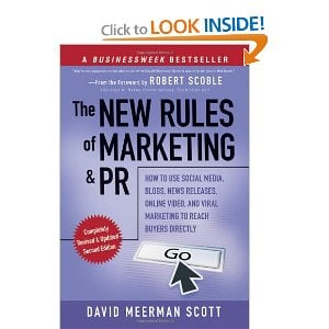 B2B Books The New Rules of Marketing and PR