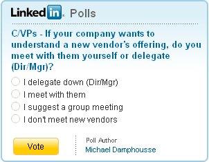 linkedin poll delegate
