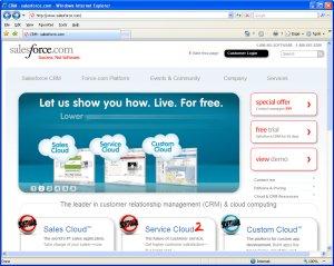 Salesforce.com Home Page